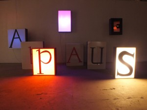 """Applause Box"" 2011, by Jillian Mayer (mixed media, dimensions variable)"