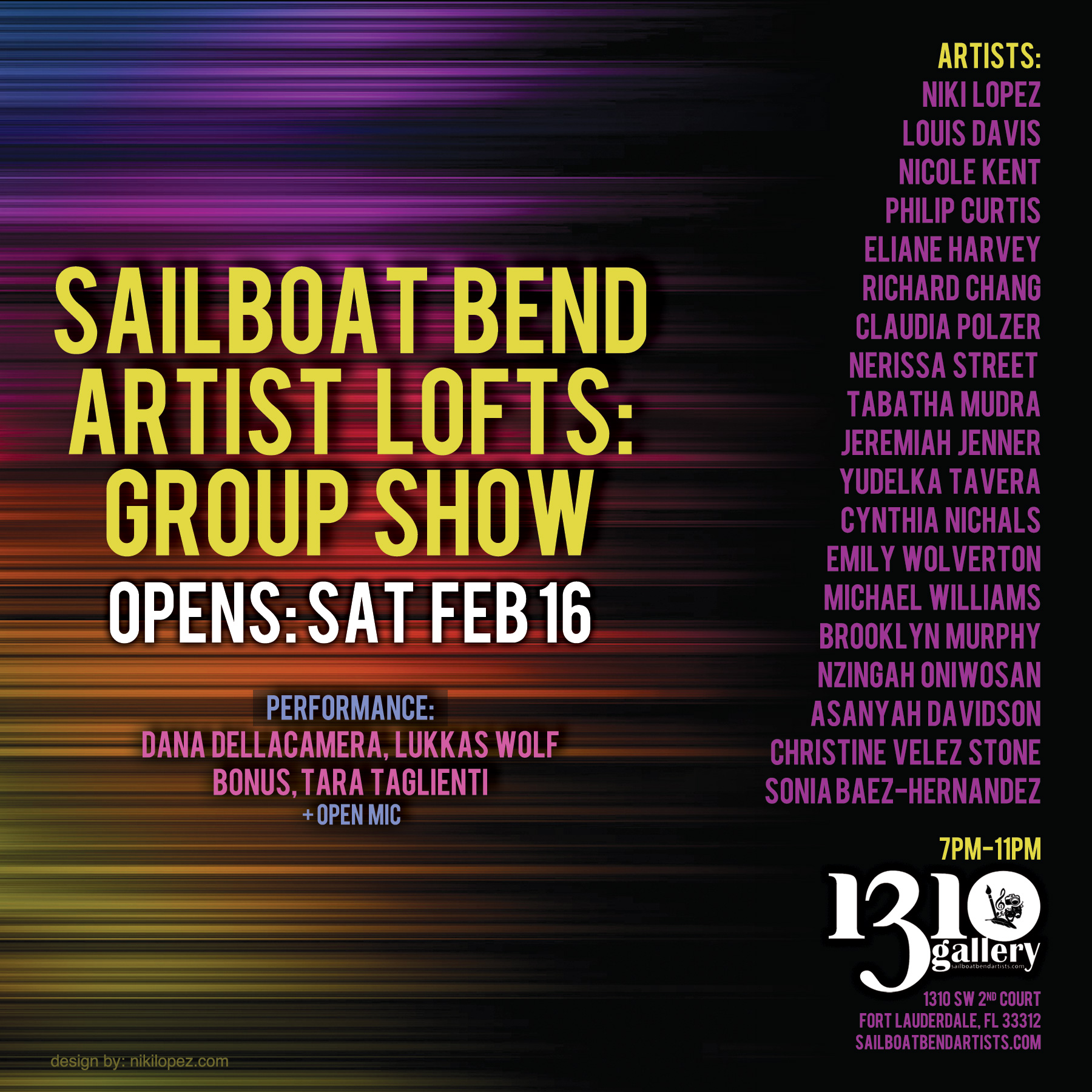 1310 Gallery Sailboat Bend Artist Community Group Show Feb 16 2013